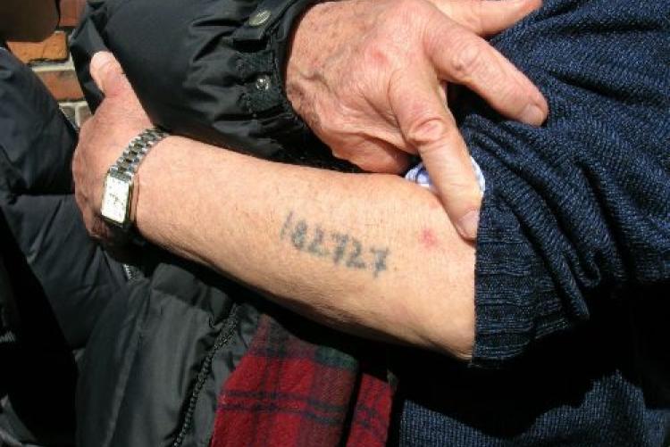 Numero tatuato di Shlomo